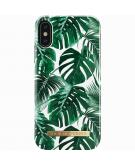 Fashion Backcover voor iPhone X / Xs - Monstera Jungle