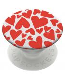 iMoshion PopGrip - Red Hearts - White