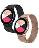 Milanees bandje 2-pack Galaxy Watch 40/42mm / Active 2 42/44 mm - Zwart / Rosé Goud