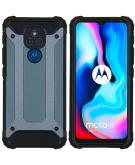 Rugged Xtreme Backcover voor de Motorola Moto E7 Plus / G9 Play - Donkerblauw