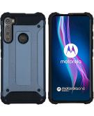 Rugged Xtreme Backcover voor de Motorola One Fusion Plus - Donkerblauw