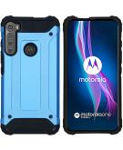 Rugged Xtreme Backcover voor de Motorola One Fusion Plus - Lichtblauw
