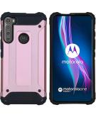 Rugged Xtreme Backcover voor de Motorola One Fusion Plus - Rosé Goud