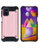 Rugged Xtreme Backcover voor de Samsung Galaxy M31s - Rosé Goud