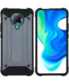 Rugged Xtreme Backcover voor de Xiaomi Poco F2 Pro - Donkerblauw