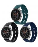 Siliconen bandje 3-pack Galaxy Watch 46mm / Gear S3 Frontier / Classic