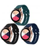 Siliconen bandje 3-pack Samsung Galaxy Watch 40/42mm / Active 2 42/44mm