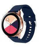Siliconen bandje voor de Galaxy Watch 40/42mm / Active 2 42/44mm - Donkerblauw