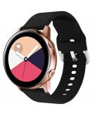 Siliconen bandje voor de Galaxy Watch 40/42mm / Active 2 42/44mm - Zwart