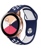 Siliconen sport bandje voor de Galaxy Watch 40/42mm / Active 2 42/44mm - Blauw