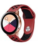 Siliconen sport bandje voor de Galaxy Watch 40/42mm / Active 2 42/44mm - Rood
